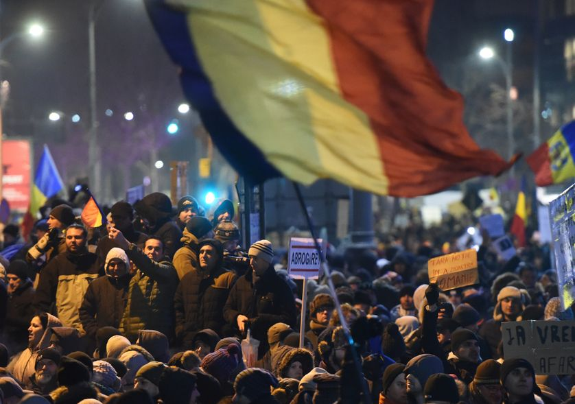 Manifestation à Bucarest, en Roumanie