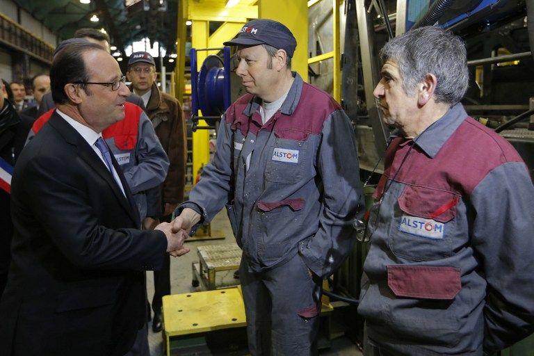 François Hollande, à Alstom.