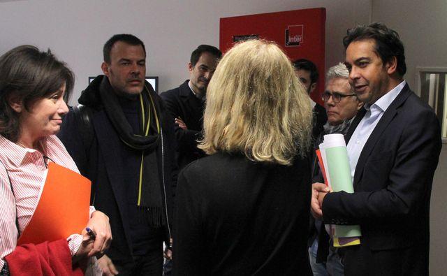 Eva Bettan, François Ozon, Nicole Garcia (de dos) et Patrick Cohen