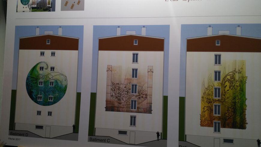 L'eau, la pierre, le bois sont les trois thèmes retenus pour les fresques qui vont orner les immeubles des Lices à Tonnerre