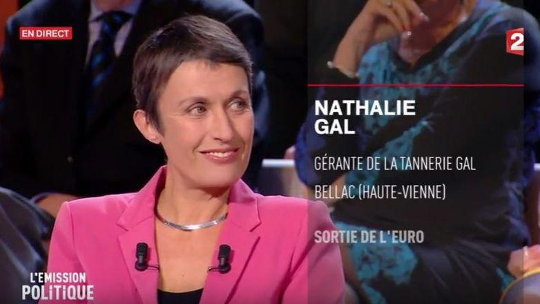 La gérante de la Tannerie Gal à Bellac a interpellé dans l'émission politique de France 2 Marine Le Pen