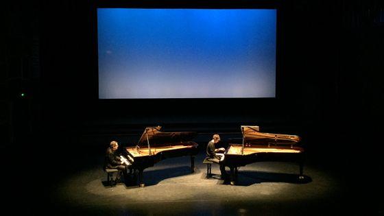 Bruce Brubaker et Francesco Tristano en répétition avant leur concert à la Folle Journée de Nantes
