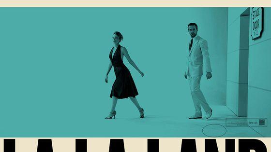 L'affiche de La La Land rappelle certains visuels d'albums de jazz.