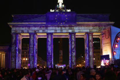 Cérémonie des 50 ans du Traité de Rome, Porte de Brandebourg à Berlin - 25 mars 2007