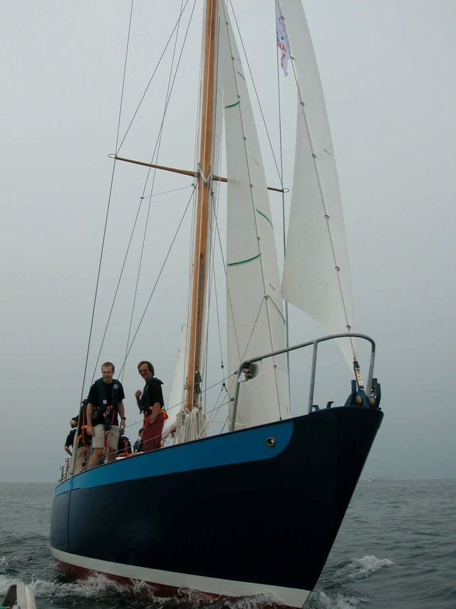 """""""La Sereine"""", premier bateau de l'ecole de voile des Glénans. Il a  été classé monument historique en 2001"""