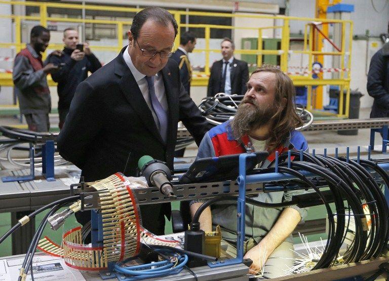 François Hollande à la rencontre des salariés d'Alstom