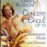 Concerto à 5 en Ut Maj op 10 n°9 - pour 3 violons alto violoncelle et basse continue : 1. allegro