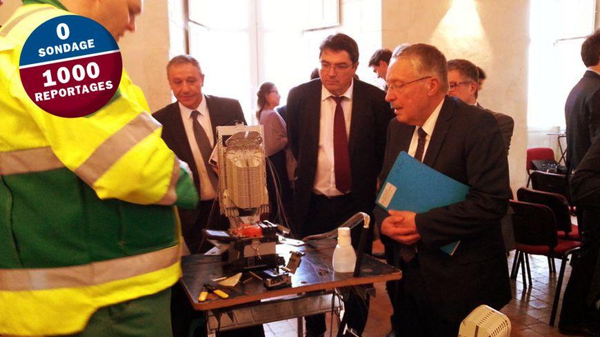 Démonstration de soudure de fibre optique au Conseil Départemental l'Indre