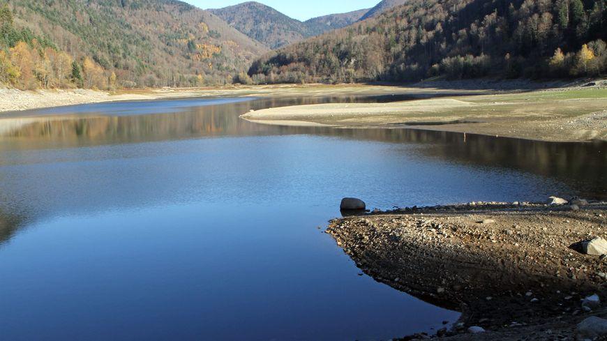 Le lac de Kruth-Wildenstein était déjà très bas en novembre