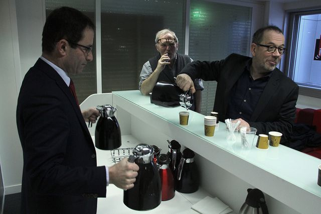 Benoit Hamon, Bernard Guetta et Thomas Legrand