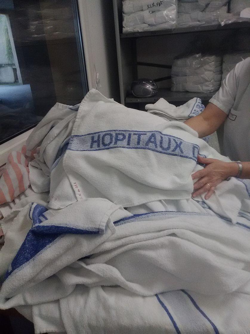 A la lingerie de l'hôpital de Die
