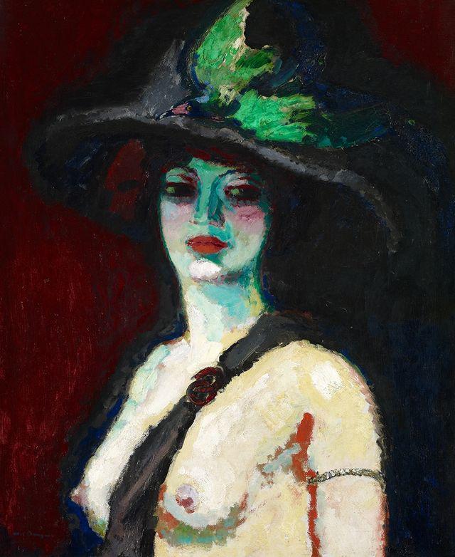 Kees van Dongen - Femme au grand chapeau