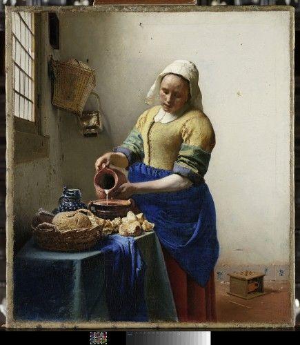 Johannes Vermeer La Laitière vers 16571658 Amsterdam Rijksmuseum