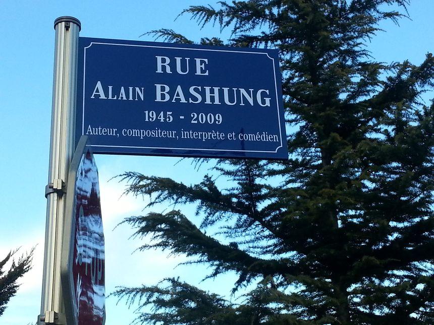 La rue Alain Bashung à Mulhouse