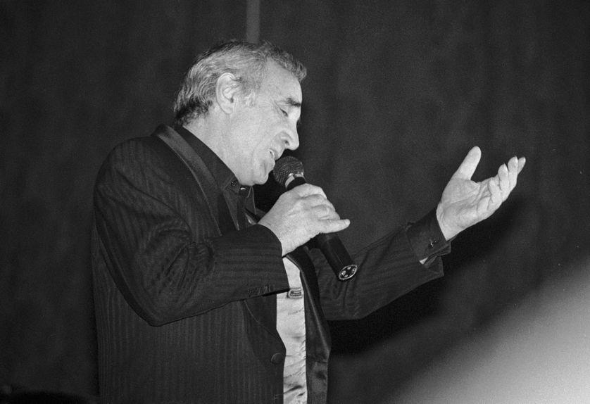 Charles Aznavour en concert à Deauville,1988