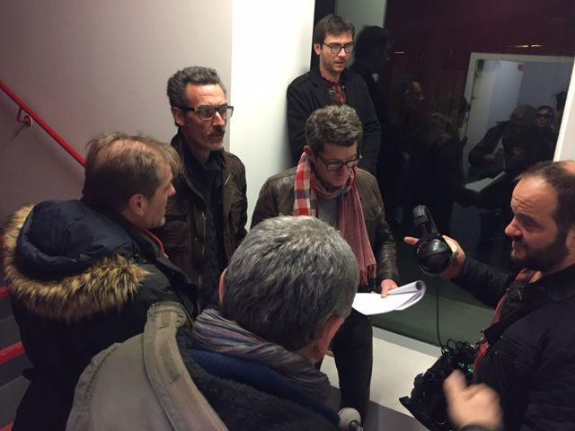 Les acteursFabrice Pierre et Christophe Reymond tournent une scène