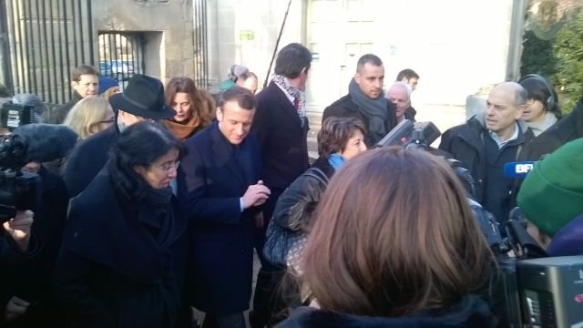 Emmanuel Macron avec Corine Lepage