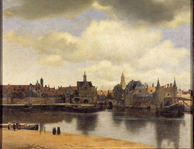 Vue de Delft de Vermeer © Musée de La Haye, Mauritshuis