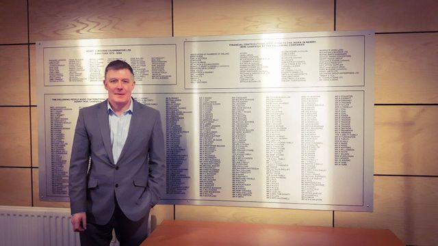 Conor Patterson, Directeur de la pépinière d'entreprises de Newry, près de la frontière