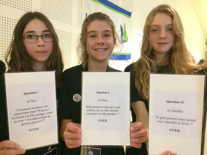 Eva, Nina et Aurélia ont pu poser leurs questions à Thomas Pesquet.