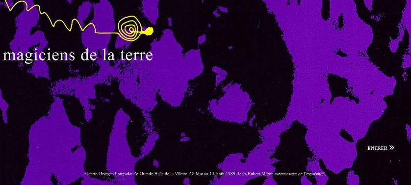 """Le site de """"Magiciens de la terre"""". Centre Georges Pompidou & Grande Halle de la Villette. 18 mai au 14 août 1989. Jean-Hubert Martin commissaire de l'exposition."""