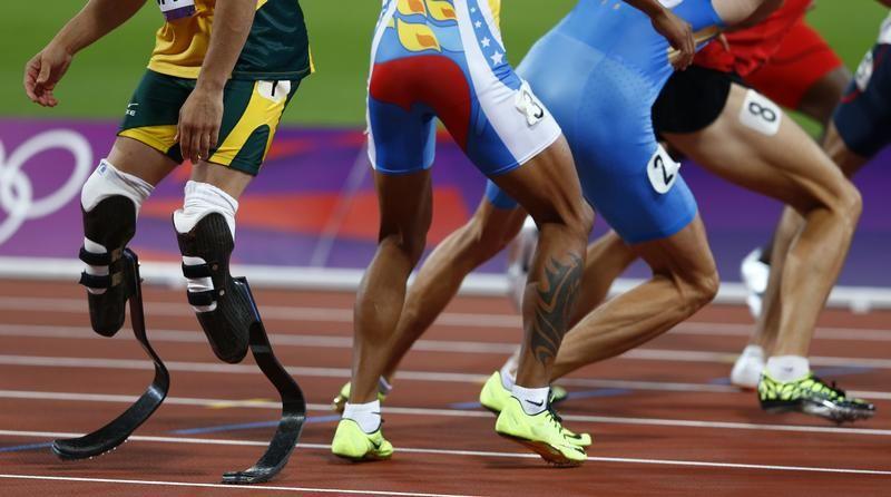 Lors des 400 mètres aux Jeux Olympiques de Londres en 2012