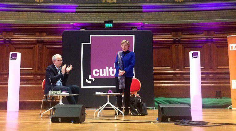 Julia Kristeva chaleureusement applaudie en clôture de son entretien dans le cadre du Forum Sorbonne
