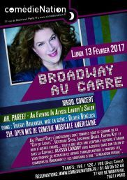 Broadway au Carré accueille ALYSSA LANDRY à la Comédie Nation