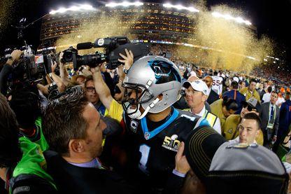 Cam Newton - Super Bowl 2016 à Santa Clara, USA, entre les Carolina Panthers et les Broncos Denver