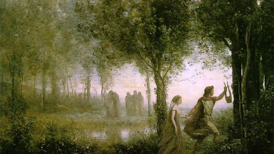 "Jean-Baptiste Corot, ""Orphée ramenant Eurydice des Enfers"", 1861"