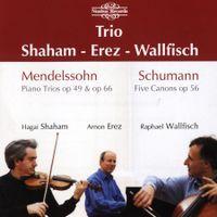 6 études en forme de canon op 56 : Innig - arrangement pour violon piano et violoncelle - Hagai Shaham