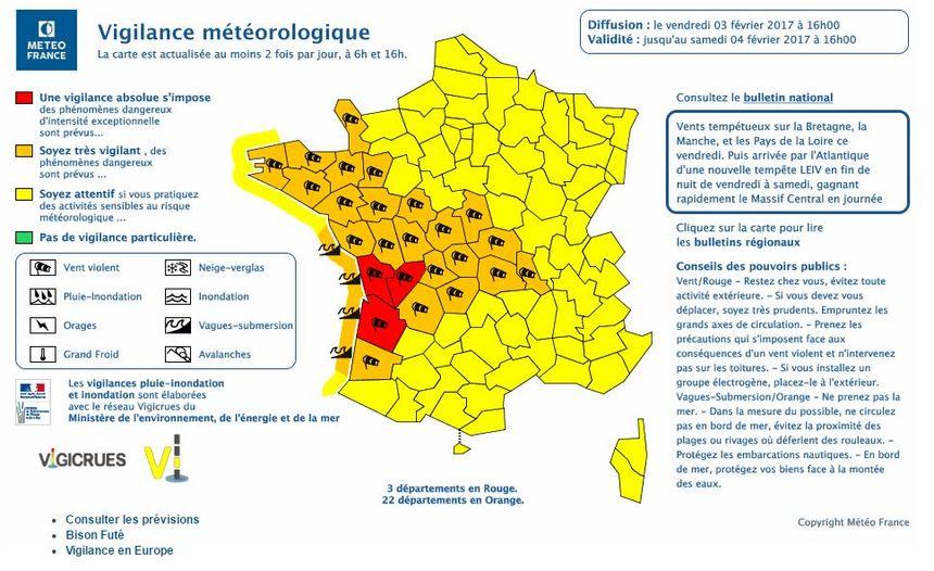 Alerte rouge sur la Gironde, la Charente et la Charente-Maritime