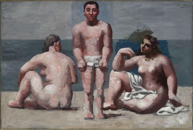 Pablo Picasso Baigneur et baigneuses (Trois baignants) 1921
