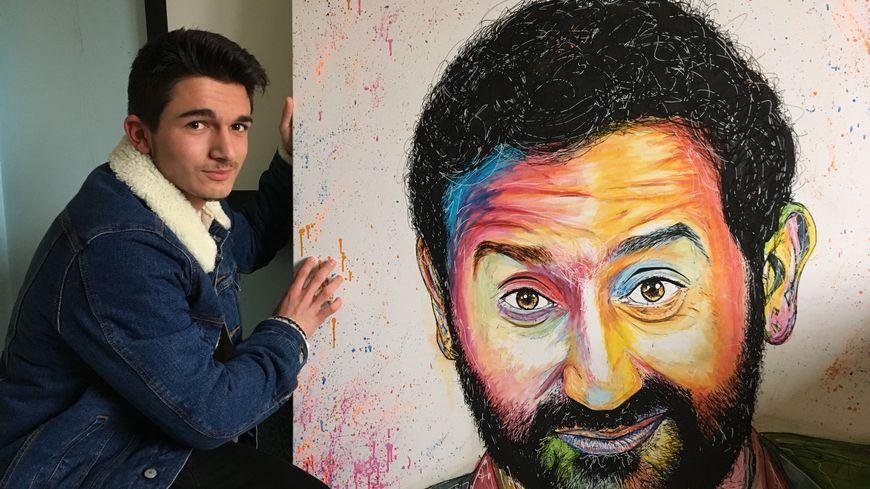 Benjamin, ce portraitiste de 18 ans peint dans sa chambre, voilà sa dernière toile : Cyril Hanouna.