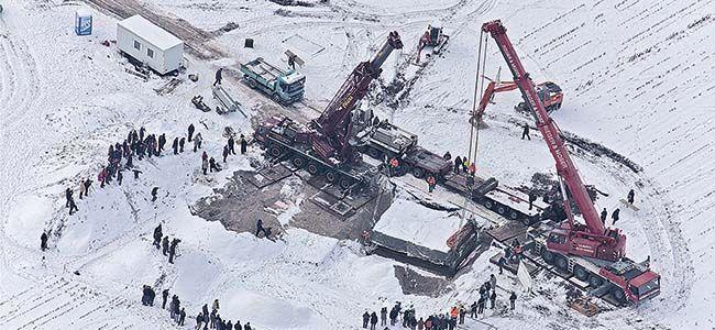 Extraction de la tombe en 2010.