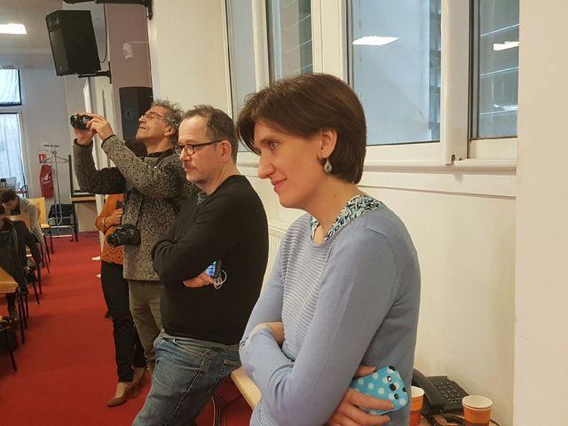 Sonia Bourhan et Thomas Legrand dans les coulisses du 7/9 de France Inter en direct de Perpignan © Radio France / France Inter