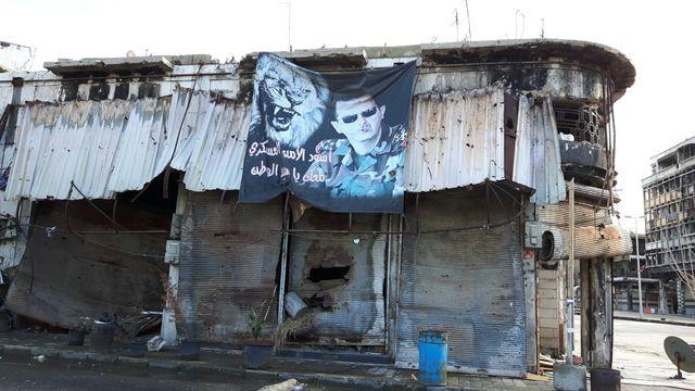 Dans les rues de Homs