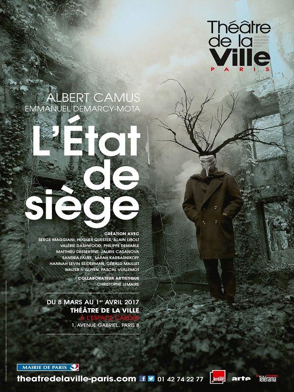 """Affiche 'L'état de siège"""" Théâtre de la ville 2017"""