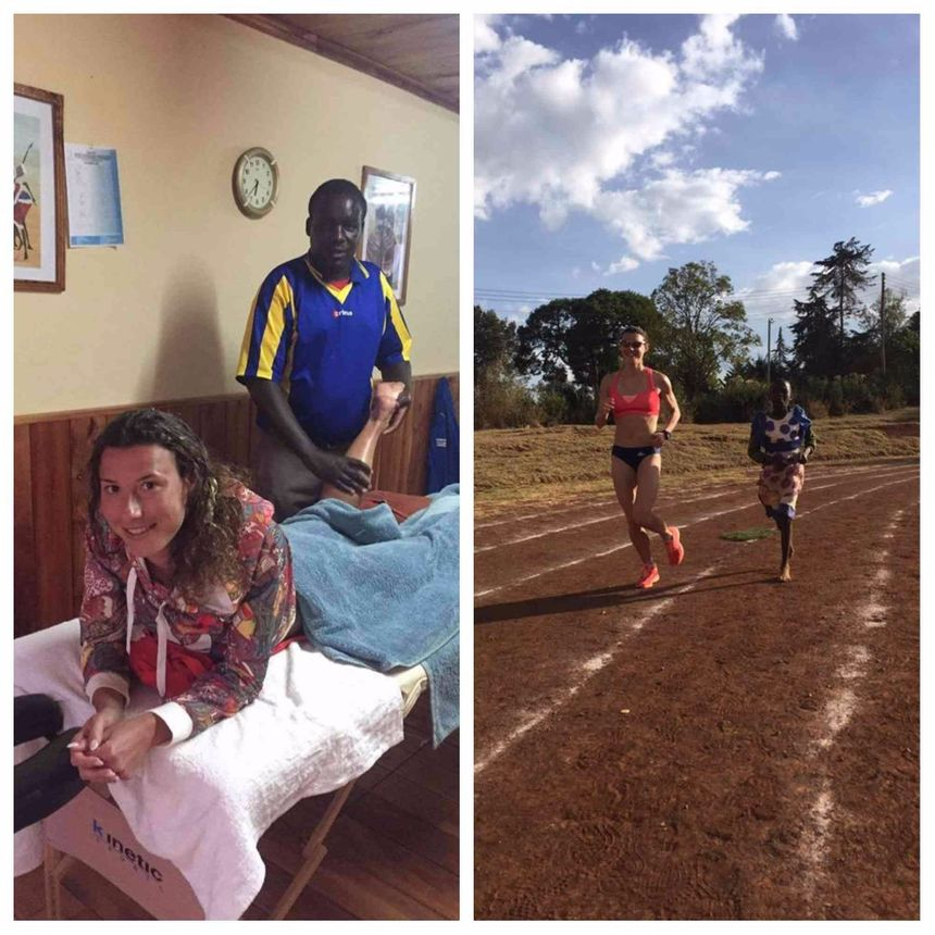 Ophélie et ses amis et préparateurs Kenyans.