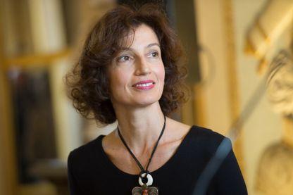La ministre française de la Culture, Audrey Azoulay, lors de la cérémonie de décoration au ministère de la Culture, le 10 novembre 2016 à Paris.