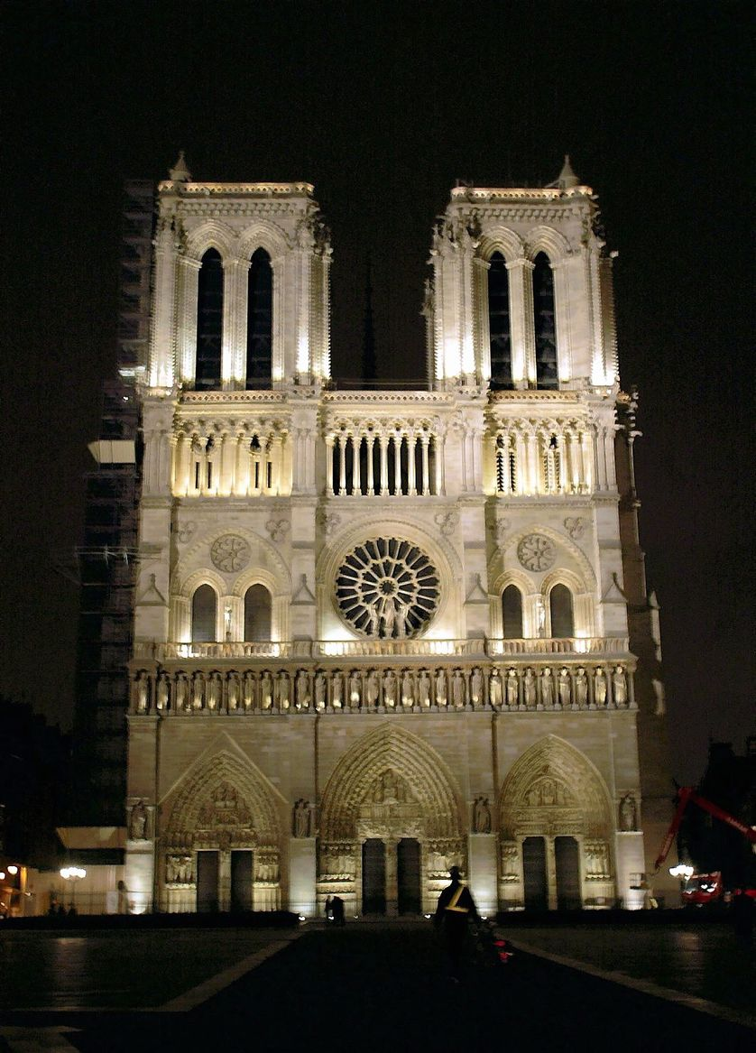 façade de Notre Dame de Paris