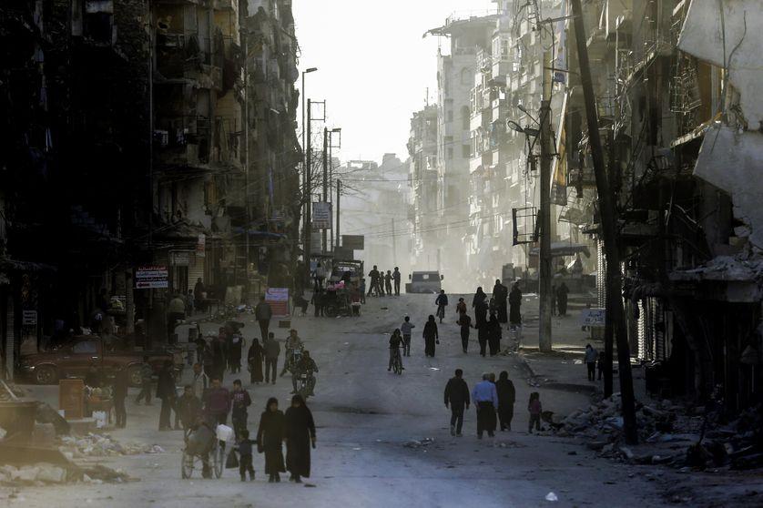 L'ancien quartier rebelle d'Al Chaar, à l'est d'Alep le 9 mars 2017
