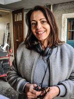 """Christine Paillard, lors du tournage du film """"De toutes mes forces"""""""