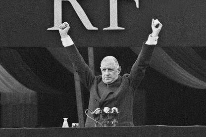 Le général de Gaulle, le 4 septembre 1958 à Paris : il présentait le projet de la nouvelle constitution aux Français - qui donnera naissance à la Ve République