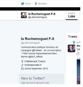 Le profil Twitter de François-Xavier La Rochemoguet
