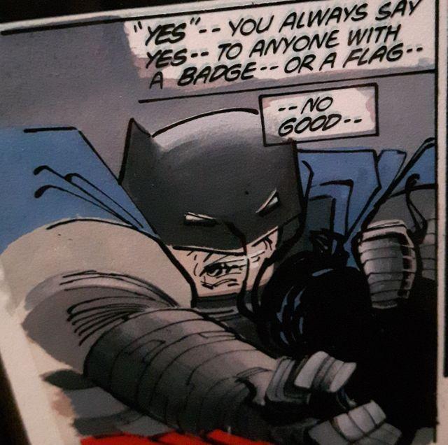 Batman: Dark Knight, extrait de planche par Franck Miller, Klaus Janson et Lynn Varley, 1986