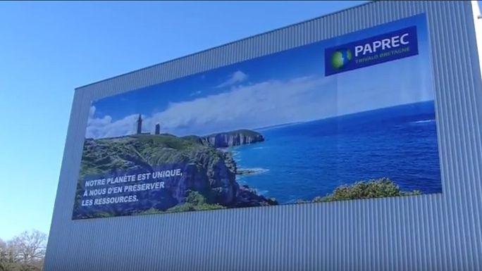 L'usine Paprec installée au Rheu près de Rennes, le plus grand centre de recyclage de France