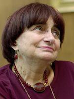 """Agnès Varda le 24 septembre 2001 à Mayence (Allemagne) pour la remise d'un prix  pour son film """"Les Glaneurs et la Glaneuse"""""""
