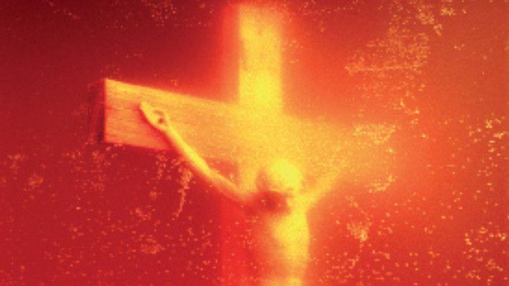 Piss Christ d'Andres Serrano a été vandalisée en 2011 à Avignon