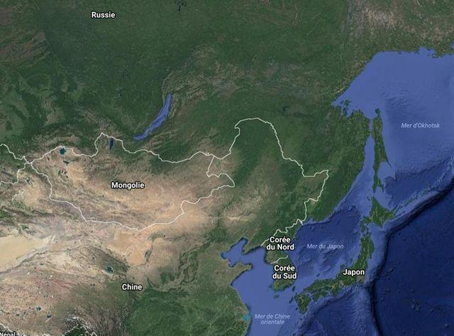 Une carte de la région situant les différents  protagonistes de ce conflit diplomatique.